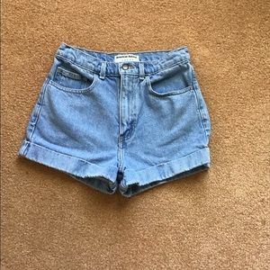 American Apparel Cuffed Denim Shorts  Size 26
